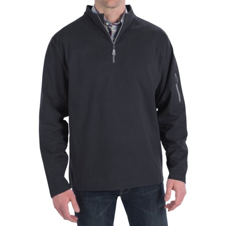 Peter Millar Whistler Wind Suede Pullover - Zip Neck, Long Sleeve (For Men)