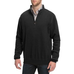 Peter Millar Melange Fleece Sweater - Zip Neck (For Men)