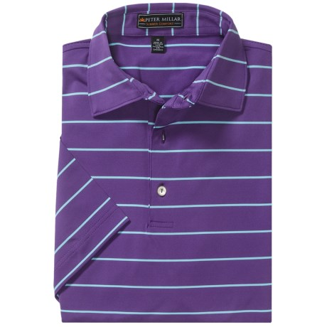 Peter Millar Summer Comfort Signature Stripe Polo Shirt - Short Sleeve (For Men)
