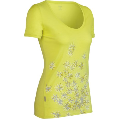 Icebreaker SF150 Tech Scatter Print Shirt - Merino Wool, Short Sleeve (For Women)