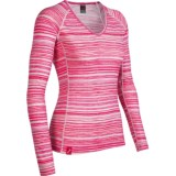 Icebreaker Bodyfit 200 Oasis V Ripple Base Layer Top - Merino Wool, Long Sleeve (For Women)