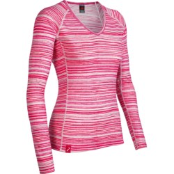 Icebreaker Bodyfit 200 Oasis V Ripple Base Layer Top - Merino Wool, Long Sleeve (For Women)