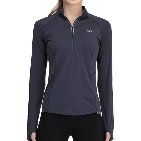 Icebreaker GT 200 Quest Zip Neck Base Layer Top - UPF 50+, Merino Wool, Long Sleeve (For Women)