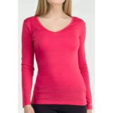 Icebreaker Bodyfit 200 V-Neck Base Layer Top - UPF 50+, Merino Wool, Long Sleeve (For Women)