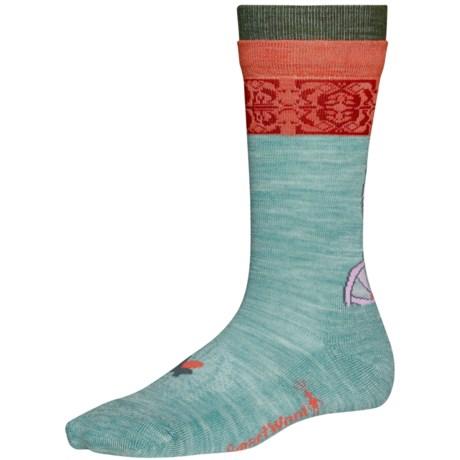 SmartWool Flowering Around Crew Socks - Merino Wool (For Women)