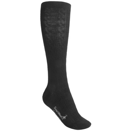 SmartWool Cable-Knit Knee-High Socks - Merino Wool, Over-the-Calf (For Women)