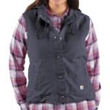 Carhartt Sandstone Berkley Vest - Sherpa-Lined (For Women)
