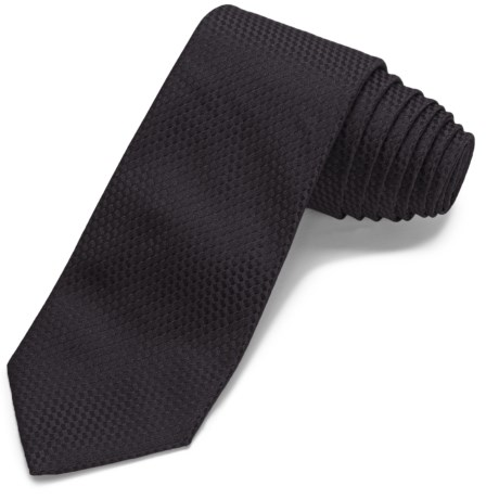 John Varvatos Collection Solid Waffle Narrow Tie - 5-Fold (For Men)