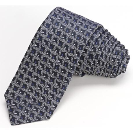 John Varvatos Star USA Skinny Diamante Pattern Neat Tie (For Men)