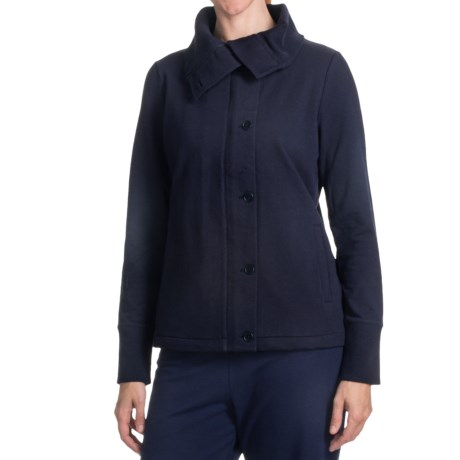 French Terry Cotton Jacket (For Women)