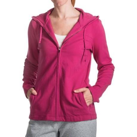 French Terry Hoodie Sweatshirt - Cotton-Modal, Full Zip (For Women)