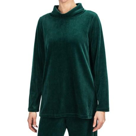 Specially made Plush Velour Turtleneck - Long Sleeve (For Women)