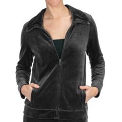 Velour Track Jacket (For Women)