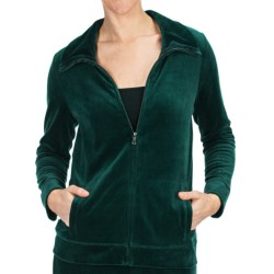 Velour Track Jacket (For Women)