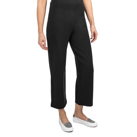Stretch French Terry Crop Pants (For Women)