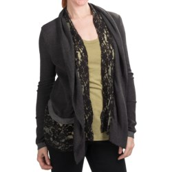 dylanThermal Ruffle Cardigan Sweater (For Women)