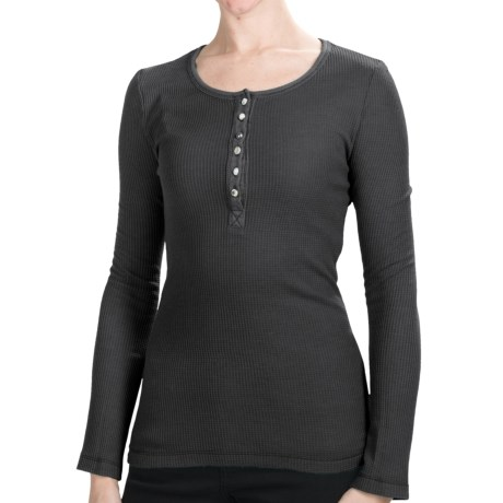 Dylan by True Grit Lace Henley Shirt - Long Sleeve (For Women)