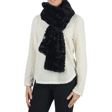 Dylan by True Grit Silky Faux-Fur Scarf (For Women)