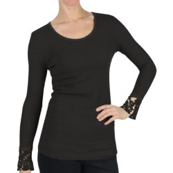 dylan DylanThermal T-Shirt - Scoop Neck, Long Sleeve (For Women)