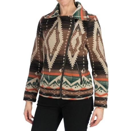 dylan by True Grit Indie Spirit Motor Jacket - Wool Blend (For Women)