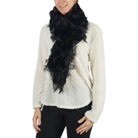 Dylan by True Grit Faux-Fur Scarf - Lace Trim (For Women)