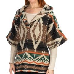 dylan by True Grit Vintage Blanket Poncho - Wool Blend, Hooded (For Women)