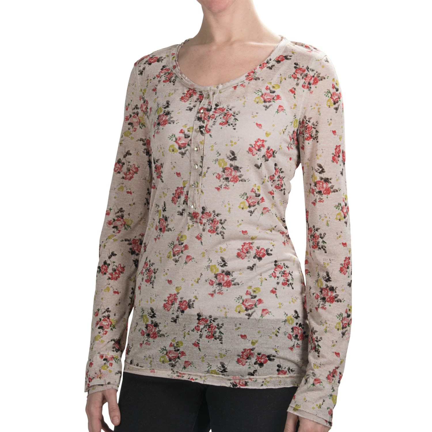Vintage rhinestone cross long sleeve shirt