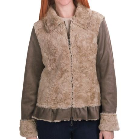 dylan Dixon Jacket - Faux Fur, Shawl Collar (For Women)