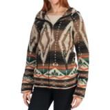 dylan Dylan by True Grit Vintage Blanket Hoodie Jacket - Wool Blend, Full Zip (For Women)