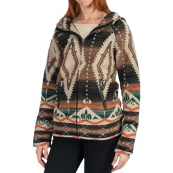 Dylan by True Grit Vintage Blanket Hoodie Jacket - Wool Blend, Full Zip (For Women)