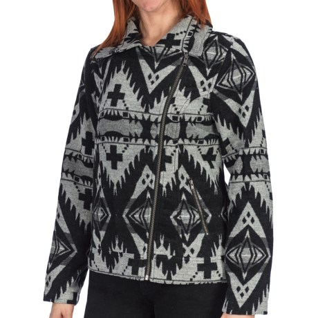 dylan Blanket Motor Jacket - Wool Blend (For Women)