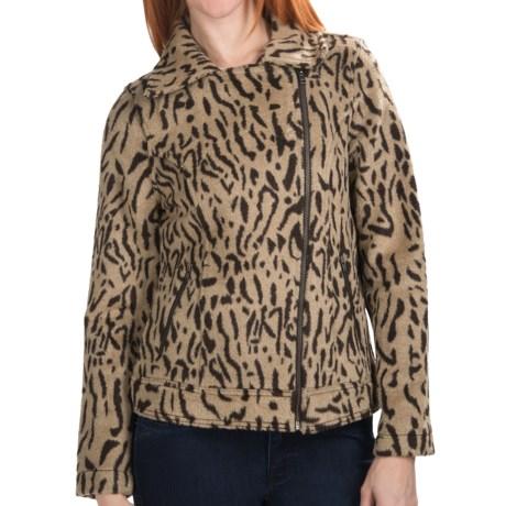 dylan Blanket Motor Jacket - Wool Blend (For Women)