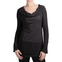 True Grit Twinkle T-Shirt - Cowl Neck, Long Sleeve (For Women)