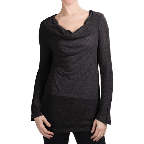 True Grit Twinkle T-Shirt - Cowl Neck, Long Sleeve (For Women)