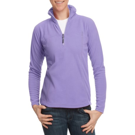 10,000 Feet Above Sea Level Fleece Pullover - Zip Neck, Long Sleeve (For Women)