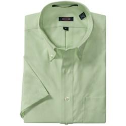 Overton Royal Oxford Sport Shirt - Wrinkle-Free Cotton, Short Sleeve (For Men)