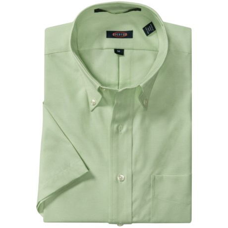 Overton Royal Oxford Sport Shirt - Wrinkle-Free Cotton, Short Sleeve (For Men)