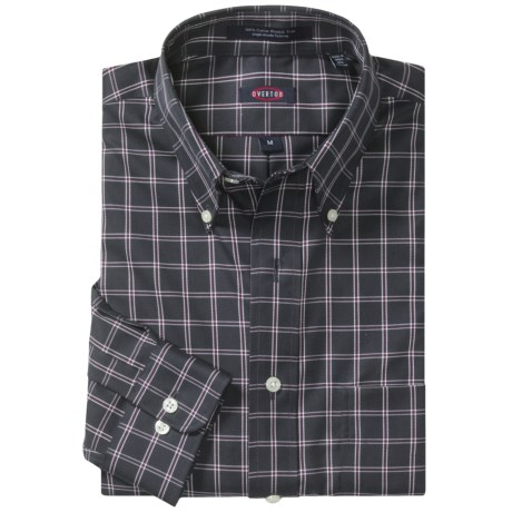 Overton Wrinkle-Free Plaid Sport Shirt - Long Sleeve (For Men)