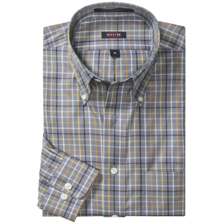 Overton Wrinkle-Free Cotton Tattersall Sport Shirt - Long Sleeve (For Men)