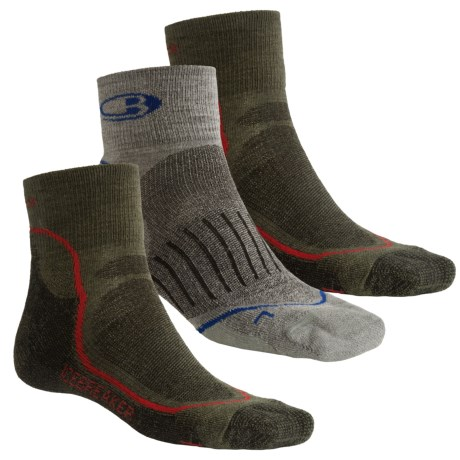 Icebreaker Mini Run/Bike Sock Grab Bag - Set of 3, Medium Cushion (For Men)