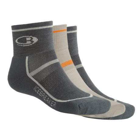Icebreaker Ultralite Mini Sport Sock Grab Bag - Set of 3, Merino Wool, No Cushion (For Men)