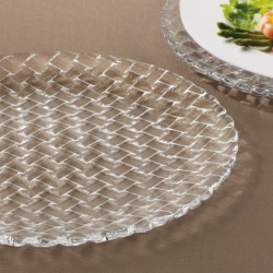 Nachtmann Dancing Stars Bossa Nova Charger Plates - Lead-Free Crystal, Set of 2