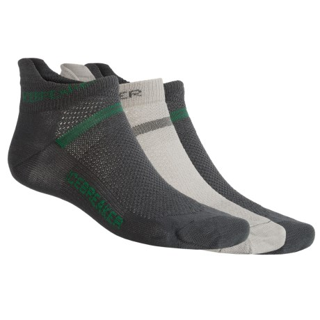 Icebreaker Ultralite Micro Sport Sock Grab Bag - Set of 3, Merino Wool, No Cushion (For Men)