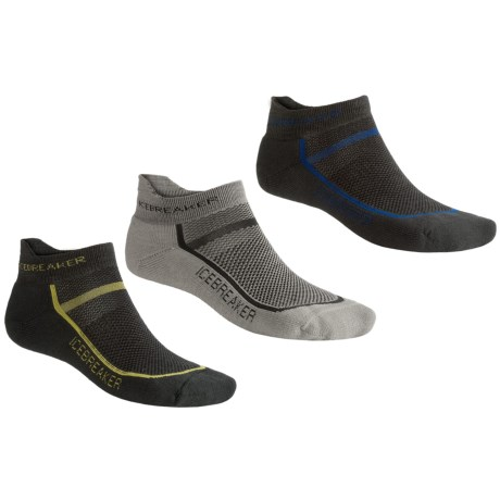 Icebreaker Micro Sport Sock Grab Bag - Set of 3, Merino Wool, Light Cushion (For Men)