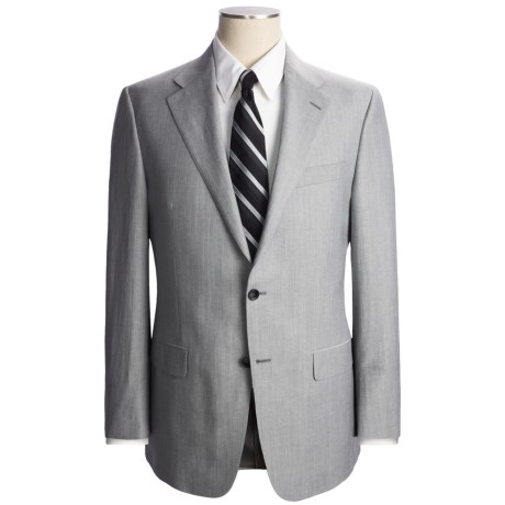 Hickey Freeman Mini-Stripe Suit - Wool-Linen (For Men)
