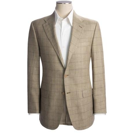 Hickey Freeman Windowpane Sport Coat - Silk-Linen-Cotton (For Men)