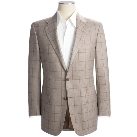 Hickey Freeman Windowpane Sport Coat - Silk-Cashmere (For Men)