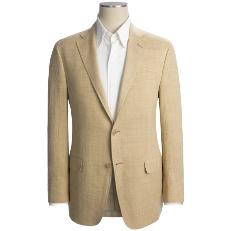 Hickey Freeman Fancy Solid Sport Coat - Linen-Silk (For Men)