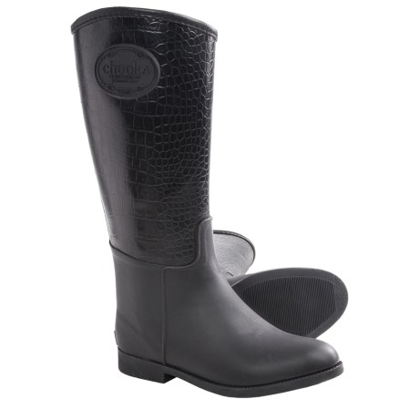 Chooka Croco-Embossed Rain Boots - Waterproof, Rubber (For Women)