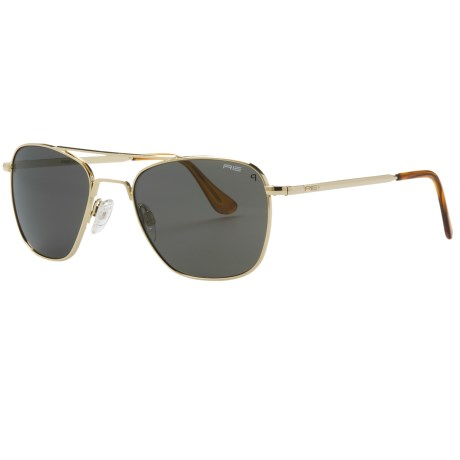 Randolph Aviator 52mm Sunglasses - Polarized, Glass Lenses, 23K Gold-Plated Frame